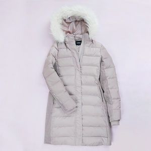 Express Hooded 80% Down Puffer Long Coat S